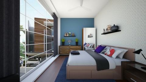 Boys Room - Masculine - Bedroom - by kerryrosemoan