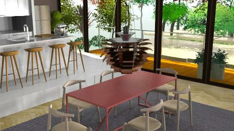 Indoor/Outdoor Living - Modern - Dining room - by Brentalicious