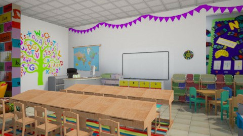 classroom - Kids room  - by Georgieex