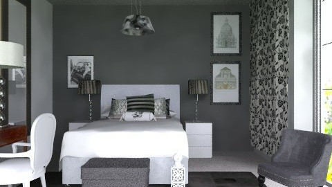Black end white - Eclectic - Bedroom - by sahfs