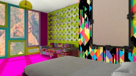 Rainbow room - Retro - Bedroom  - by StienAerts
