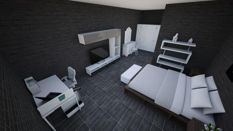Dark Room - Modern - Bedroom  - by DsrkHere