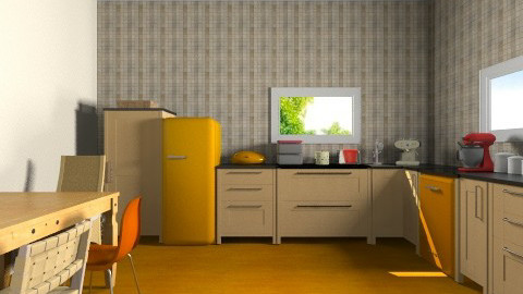 orange - Eclectic - Kitchen  - by martinabb