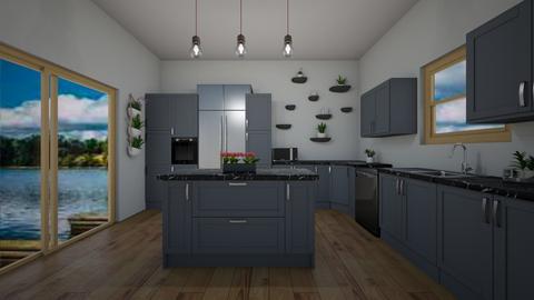Blue Kitchen - Kitchen  - by BaylorBear