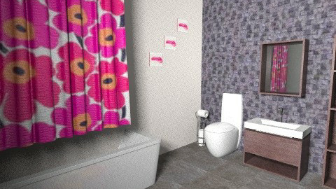 hot colours - Glamour - Bathroom  - by Hana Mo