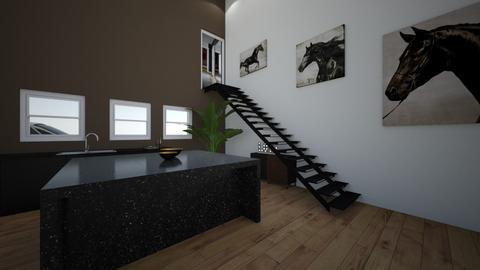 Black elegant kitchen - Modern - Kitchen  - by malooriginal