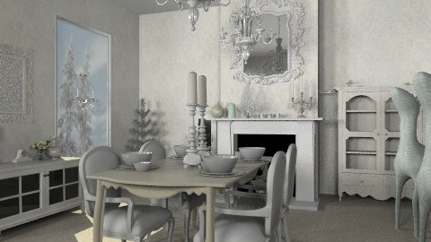 Let It Snow - Classic - Dining room  - by Coco_Juno