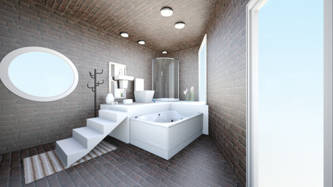 Small family bathroom - Rustic - Bathroom  - by LaValentina