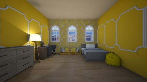 Yellow For designgirl59  - Bedroom  - by Hamzah luvs cats