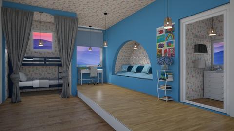 Twins Room_Read Story  - Kids room  - by srmagi