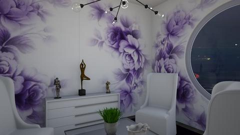 purple wall decor - by ilcsi1860