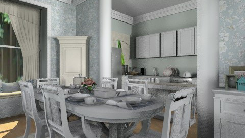 Dining Area - Vintage - Kitchen  - by cheyjordan