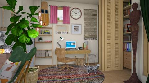boho office - Vintage - Office  - by donella