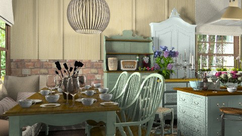 Ivy Cottage Kitchen. view 2 - Vintage - Kitchen  - by Your well wisher