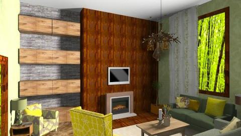 Green Bean - Rustic - Living room  - by annanani