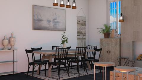 Dark Japandi - Modern - Dining room  - by evabarrett