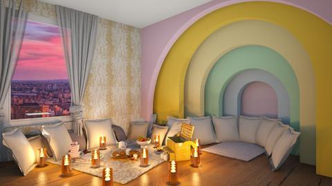 Rainbow indoor picnic  - Modern - Living room  - by Pheebs09