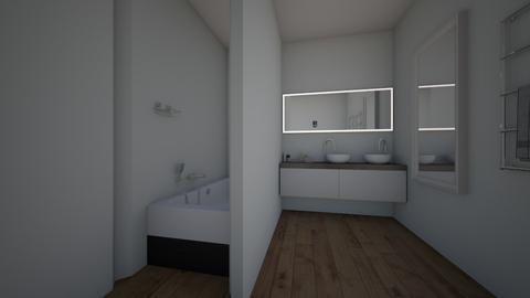 black and white  bathroom - by Anna Sputo