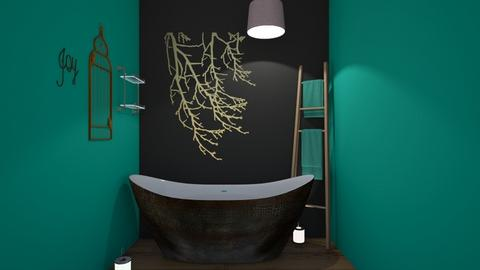 light green  dark black - Bathroom  - by kballard