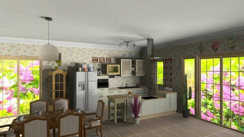 calm kitchen - Country - Kitchen  - by GALE88