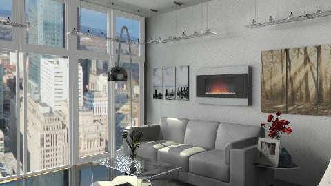 Luxurious Apt - Glamour - Living room  - by Navnita