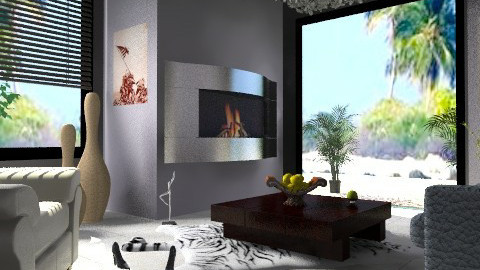 Fire - Minimal - Living room  - by milyca8