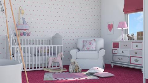 Pink Baby - Kids room  - by GraceKathryn