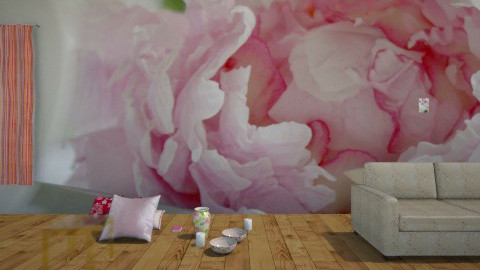 Peony Pale Pink - Feminine - Living room - by Roxanne Shelby