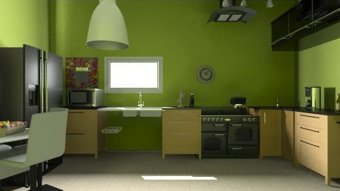 cocina green space - Eclectic - Kitchen  - by Jen Guerra