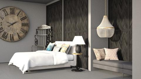 black bedroom - Bedroom  - by Swig