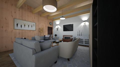 rustic living room - Living room  - by tessmcquillan