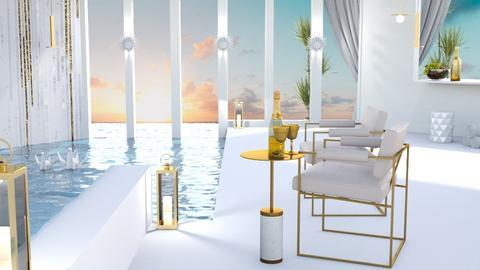 Luxury hotel pool - by Esko123