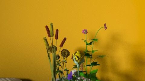 i love ORANGE - Country - Bedroom  - by AVA KALBRENER