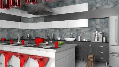 Tranquil Kitchen - Modern - Kitchen  - by Adrienne Danyel