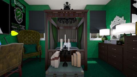 Slytherin Teen - Bedroom  - by SammyJPili