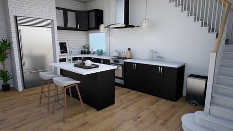Kitchen black - Modern - Kitchen - by norkis