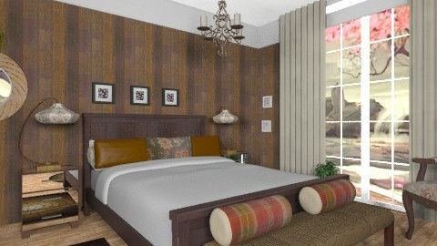 Brown2 - Eclectic - Bedroom  - by milyca8