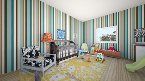 baby room - Eclectic - Kids room - by Omggirl77