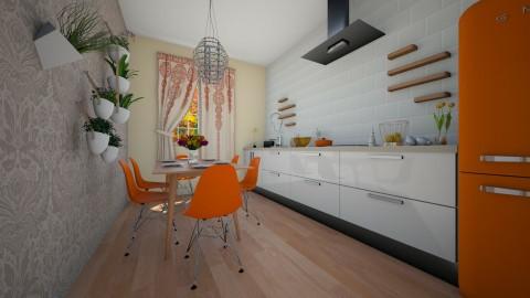 Orange - Modern - Kitchen  - by Liu Kovac