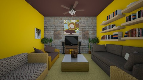 yellow forrest - Living room - by Neciapooh