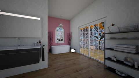 Cherry Blossom Bathroom - Bathroom  - by krapptauer