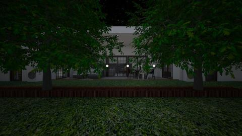 House3_night lights - Garden  - by lovasemoke