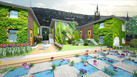 roof garden over toon - Garden  - by Conchy