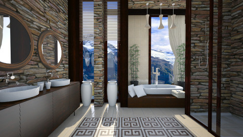 mountain bath - Bathroom  - by Senia N