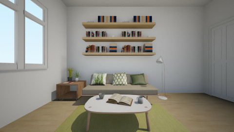 Little Green - Living room  - by Agnes Lai