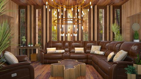 Home in the Redwoods - Rustic - Living room  - by millerfam