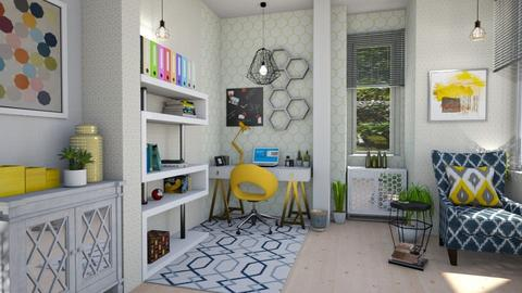 honeycomb office - Office  - by Moonpearl