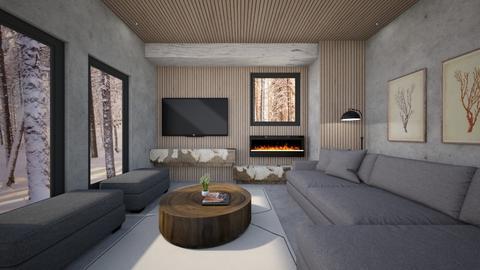 Wood wall - Living room  - by heyfeyt