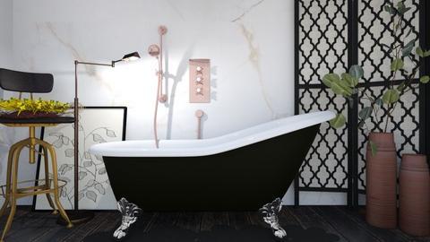 dark sad man - Bathroom  - by Lililu