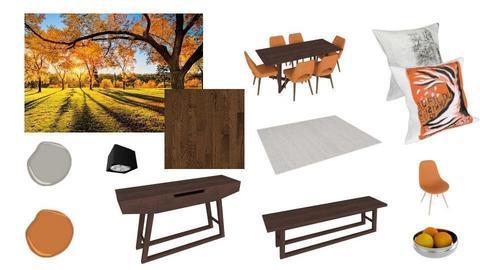 Orange dining room - by ibon